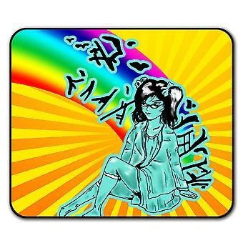 Asiatisk pige Mystic skridsikre musemåtte Pad 24 cm x 20 cm | Wellcoda