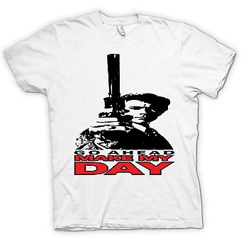Womens T-shirt - Dirty Harry Make My Day - Clint