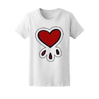 Heart Doodle Icon Tee Women's -Image by Shutterstock