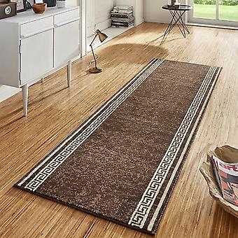 Design velour carpet runners bridge Casa Brown