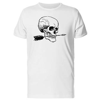 Skull With Arrow In Mouth Tee Men's -Image by Shutterstock