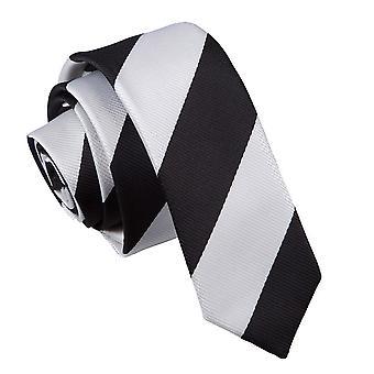 Zwarte & wit gestreepte mager gelijkspel