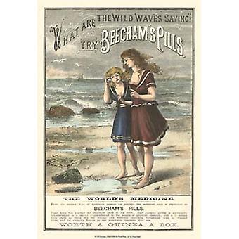 Beechams Pills Poster Print by Vision studio (13 x 19)