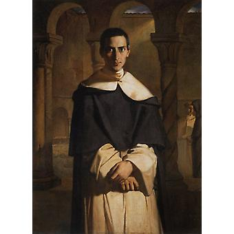 Father Dominique Lacordaire, Theodore Chasseriau, 40x60cm with tray