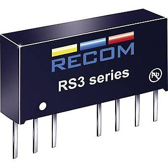 RECOM RS3-2412S RS3-2412S 3W DC/DC Converter RS3-2412S 18 - 36 Vdc 12 Vdc 250 mA 3 W