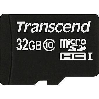 Premium Transcend MicroSDHC card 32 GB Class 10
