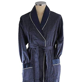 Bown of London Mayfair Lightweight Dressing Gown - Navy