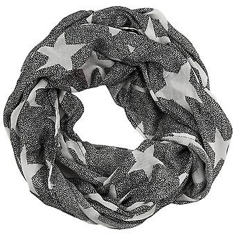 s.Oliver women's loop with star motifs scarf 38.899.91.3639-99A1