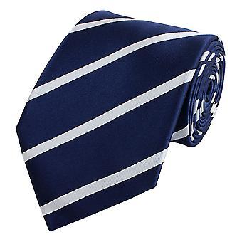 Schlips Krawatte Krawatten Binder 8cm blau weiß gestreift Fabio Farini