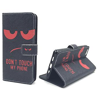 Dont touch my phone mobile case Huawei P8 Lite Flip case Wallet case