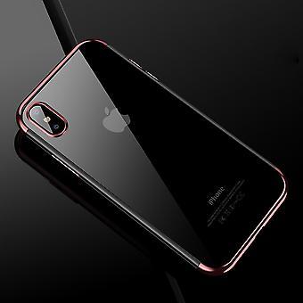Funda de teléfono celular de Apple iPhone X transparente transparente rosa rosa