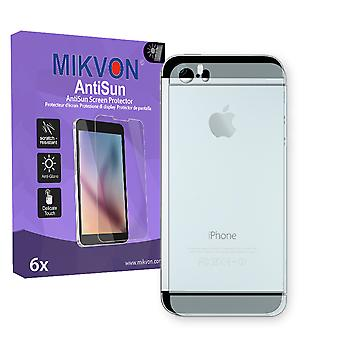 Apple iPhone 5S reverse Screen Protector - Mikvon AntiSun (Retail Package with accessories)