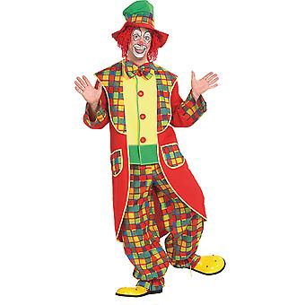 Clown men's costume circus jester fool Carnival