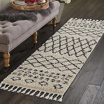Moroccan Shaggy Hallway Runners By Nourison Mrs02 In Cream