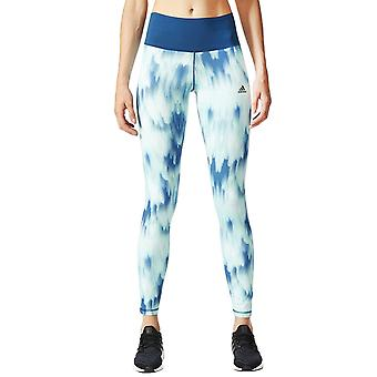 adidas Performance Womens High-Rise AOP Running Sports Tight Leggings - Multco