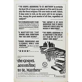 El Evangelio según San Mateo Movie Poster (11 x 17)