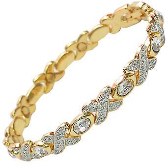 MPS® TARIM magnetiska armband med klara kristaller + verktyget för borttagning av gratis länkar