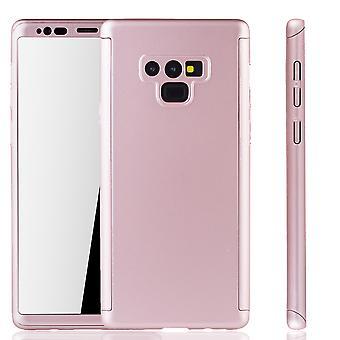 Samsung Galaxy touch 9 mobile shell koop nu Schutzcase volledige dekking 360 display beschermfolie roos