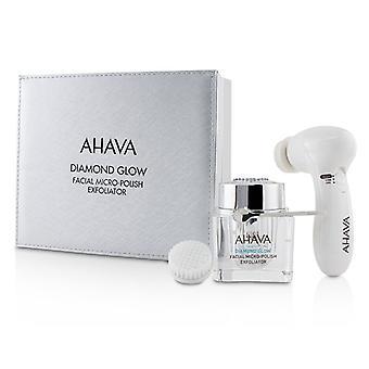 AHAVA Diamond glød Facial mikro-polsk Exfoliator (1 x mikro-eksfolierende creme 50ml 1 x udrensning enhed 1 x børstehoved)--