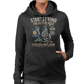 Start Strong Fitness Crossfit Women's Hooded Sweatshirt