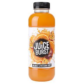 Saft-Burst-Orange und Maracuja Saft trinken