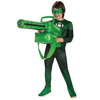 Zielona Latarnia filmu Superhero broni chłopcy męskie kostium nadmuchiwane Gatling Gun