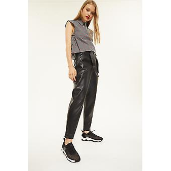 Gracia Pleather High Waisted Trousers