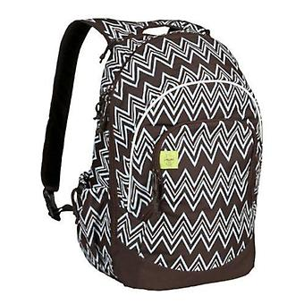 Brown Multi Compartment Backpack School Bag Travel Rucksack 42cm Lassig