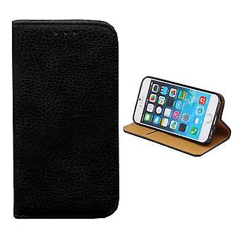 Colorfone iPhone 6/6S más bolsa de la carpeta (negro)