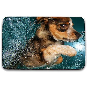 i-Tronixs - Underwater Dog Printed Design Non-Slip Rectangular Mouse Mat for Office / Home / Gaming - 12