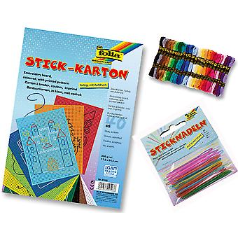 Beginners Embroidery Cross Stitch Craft Set for Kids Groups - Makes 40