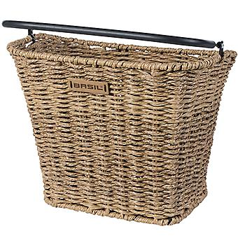 Basil Bremen front bicycle basket (rattan look) / / removable