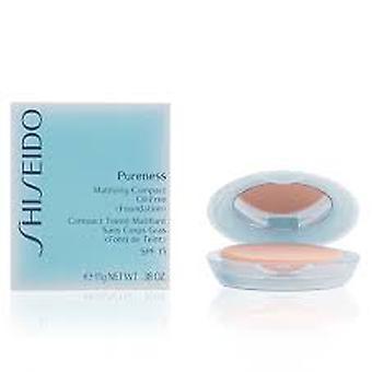 Shiseido Pureness Matifying ölfreier Kompaktpuder Foundation SPF15 natürliche Elfenbein