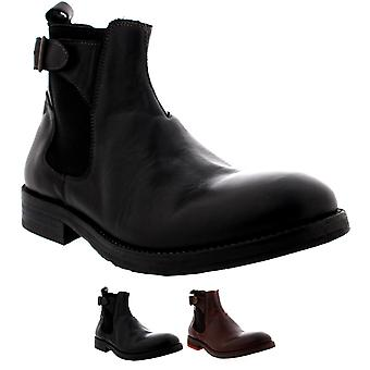 Mens H By Hudson Parson Leather Chelsea Boots Smart Work Office Shoes