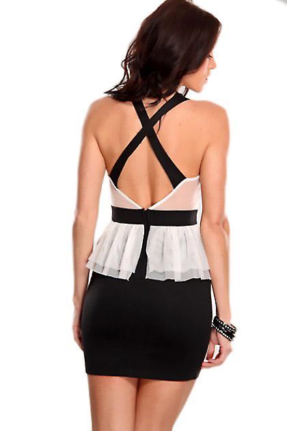 Waooh - Fashion - Short dress neckline and lace