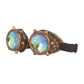Óculos steampunk caleidoscópio