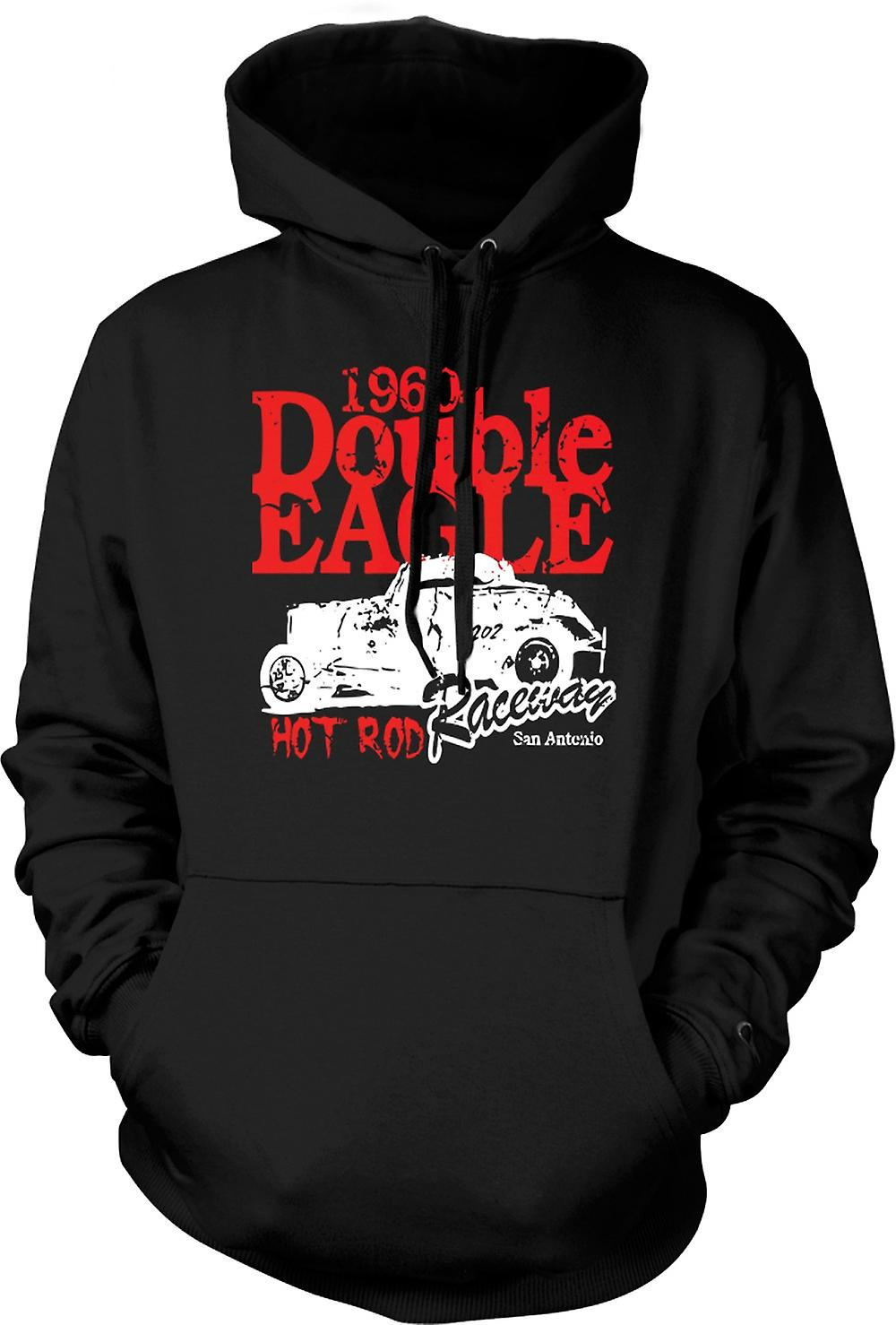Mens Hoodie - Hot Rod 1960 Double Eagle Racing