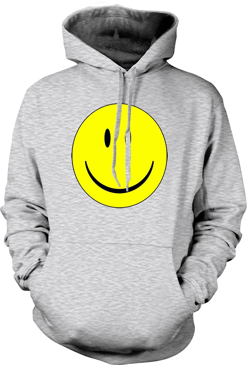 Mens Hoodie - miley ansikt - Acid House