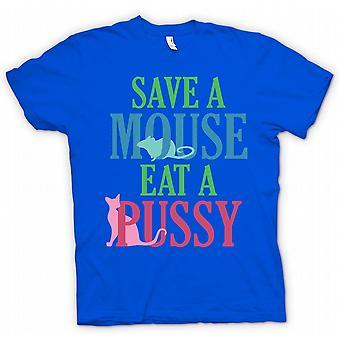 تي شيرت رجالي--إنقاذ الفأر أكل كس-مضحك الخام