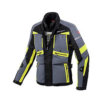 Spidi nero fluorescente giallo Globetracker H2Out impermeabile moto giacca