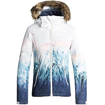 Roxy Bright White-Snowyvale Jet SE Girls Ski Jacket