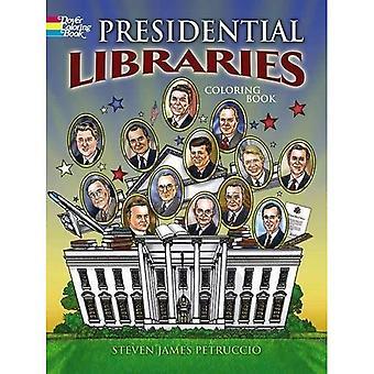 Presidentens bibliotek (Dover historia målarbok)