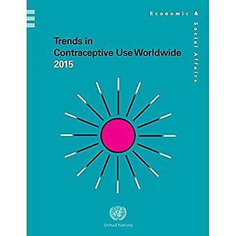 Tendenze nella contraccettivo utilizzano 2015 in tutto il mondo