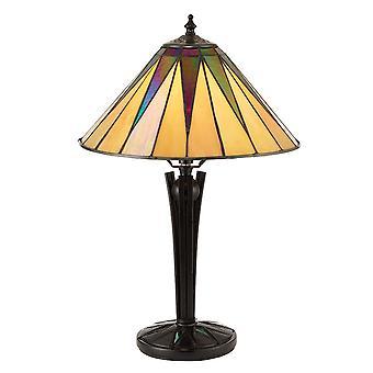Dark Star pequeño estilo Tiffany lámpara de mesa - interiores 70367 1900