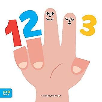 123 Lift & Learn: Interactive flaps reveal basic concepts for toddlers� (Lap Board Concepts) [Board book]