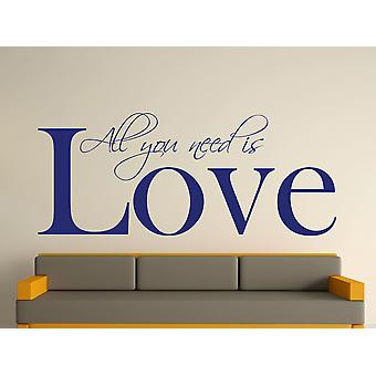 All You Need Wall Art Sticker - Ultra Blue