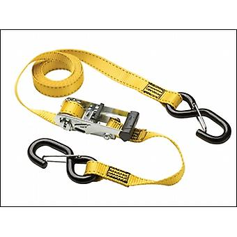RATCHET TIE DOWN + S HOOKS 3M (PACK OF 2)