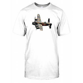 Royal Airforce Lancaster Bomber Plane Mens T Shirt