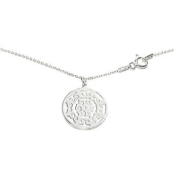 Ah! Jewellery Sterling Silver Open Work Circle Necklace, Stamped 925.