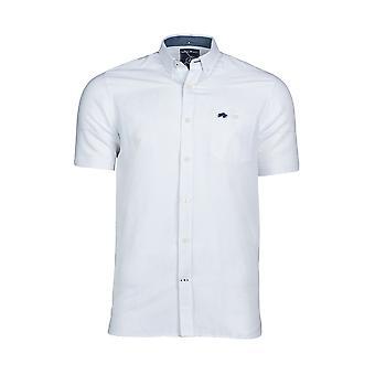 Short Sleeve Linen Shirt - White
